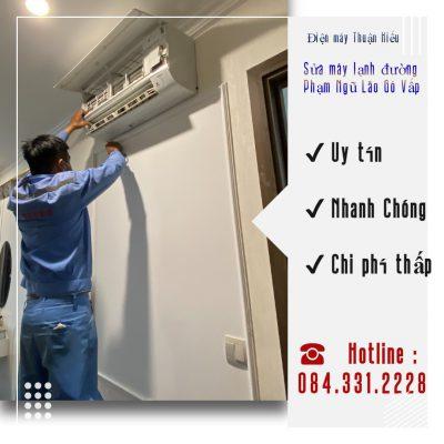 Sửa máy lạnh đường Phạm Ngũ Lão Gò Vấp